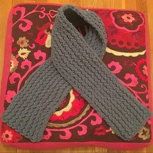 Loom Knit Scarf - Slate Blue